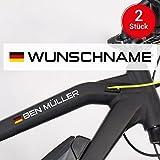 Motoking Fahrradaufkleber Name & Flagge - 2 Stück...