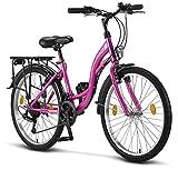 Licorne Bike Stella (Rosa) 24 Zoll Kinderfahrrad,...