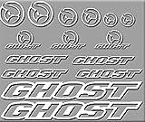 Ecoshirt UU-6Y41-02WS Aufkleber Ghost Bici R207...