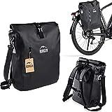Borgen Fahrradtasche für Gepäckträger 3in1...