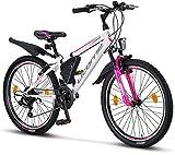 Licorne Bike Guide (Weiß/Rosa, 24), 24 Zoll...
