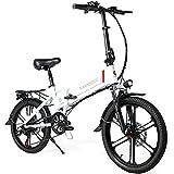 SAMEBIKE 20 Zoll Elektrofahrrad E-Bike, Klappbares...
