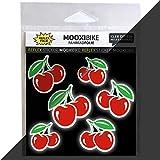 MOOXIBIKE I Sticker Cherry Lady rot reflektierend,...