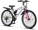 Licorne Bike Guide (Weiß/Rosa, 26), 26 Zoll, 24...