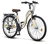 Licorne Bike Stella (Beige) 26 Zoll Damenfahrrad,...