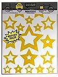 MOOXIBIKE Sticker Set Star gelb reflektierend,...