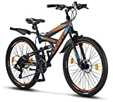 Licorne Bike Strong D 26 Zoll Mountainbike Fully,...