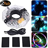 WenX 2Pack USB Wiederaufladbare LED Fahrrad...